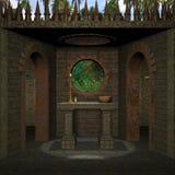 Place médiévale Image libre de droits