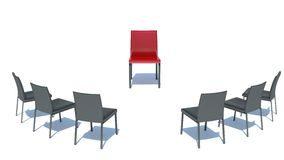 Place the main man. red chair Stock Photos