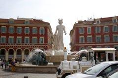 Place Masséna fountain Stock Images