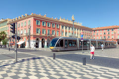 Place Massena - the most popular and beautiful square of Nice Royalty Free Stock Photography