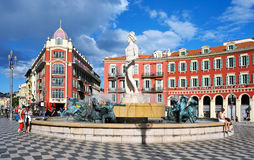 Place Massena in Nice, France Stock Images