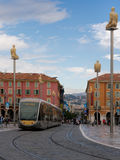 Place Massena,Nice, France with modern public tran Royalty Free Stock Image
