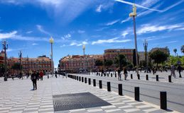 Place Massena,Nice,France Royalty Free Stock Photos