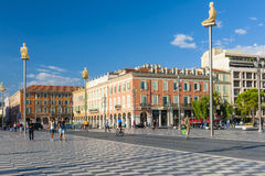Place Massena in Nice, France Stock Photo