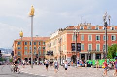 Place Massena - Nice royalty free stock photography