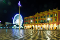 Place Massena in Nice. The Place Massena square in Nice, Provence-Alpes-Cote d'Azur, France royalty free stock photos