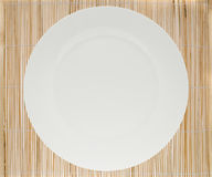 Place mat and plate Stock Image