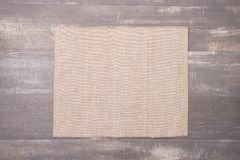 Place mat. On wooden deck table Stock Images