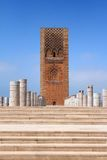Place of the mausoleum Mohammed V, and the tower. Hassan in Rabat, Morocco Royalty Free Stock Photography