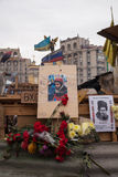 Place the memory of the murdered protester Sergei Migoyan, Euromaidan Royalty Free Stock Image