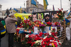 Place the memory of those who were killed on Euromaidan Royalty Free Stock Image