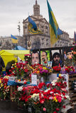 Place the memory of those who were killed on Euromaidan Stock Image
