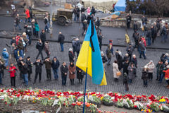 Place the memory of those who were killed on Euromaidan Stock Photos