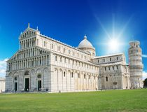 , Place of Miracle with famous tower pisa. Pisa, Place of Miracle with famous tower Stock Photos