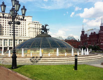 Place Moscou de Kremlin Manezh Photos libres de droits