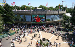 Place of the Musketeers Roland Garros 2011 Royalty Free Stock Photo