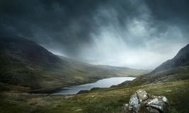 Wild Weather and Mountains Landscape Stock Photography