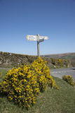 Place names on signpost in countryside Stock Images