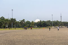 Place at national monument in Jakarta Royalty Free Stock Images