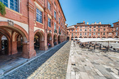 Place Nationale in Montauban, France Royalty Free Stock Images