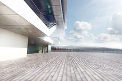 Place near the fashion house in the style of high-tech. 3d render location background royalty free illustration