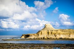 Salt pans malta. Place near salt pans malta Stock Image