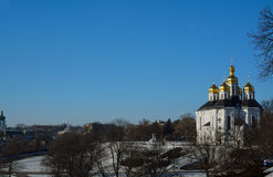 Place near the St. Catherine church in Chernihiv, Ukraine, with Stock Photo