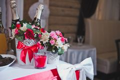 Place of the newly-married couple on wedding 2535. Royalty Free Stock Images