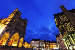 Place Notre-Dame in Amiens Royalty Free Stock Photo