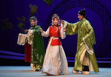 "Place obstacles in the way-Kunqu Opera ""the West Chamber"" Stock Photos"