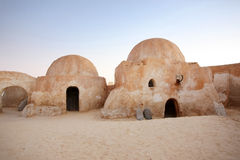 Place Ong Jemel in Tunisia. Buildings in Ong Jemel, Tunisia. Ong Jemel is a place near Tozeur, where the movies Star wars and the English Patient were filmed Stock Images