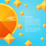 Place orange abstraite sur un fond bleu Image stock