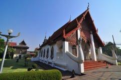 Place paisible de temple de Lanna de bouddhisme Photo libre de droits