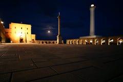Place par nuit image stock