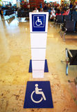 Place for persons with disabilities. Stock Images