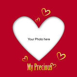 Place the photo of your love Royalty Free Stock Images