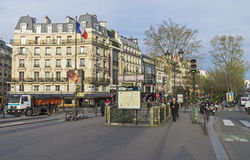 Place Pigalle in the morning. Stock Photos