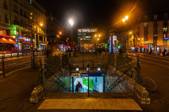 Place Pigalle in Paris, France, at night Royalty Free Stock Photography