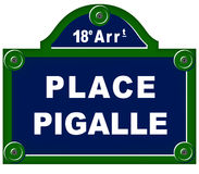 Place pigalle sign Stock Images