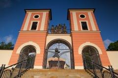Place of pilgrimage in Jaromerice u Jevicka. Renovated pilgrimage church in Jaromerice u Jevicka Royalty Free Stock Photos