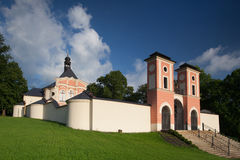 Place of pilgrimage in Jaromerice u Jevicka Stock Images