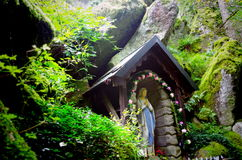 Place of pilgrimage. With the virgin Mary royalty free stock photo