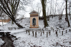 Place of pilgrimage in winter Stock Photo