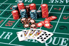 Place a poker player Royalty Free Stock Image
