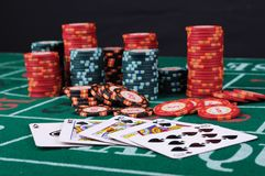 Place a poker player Stock Photos