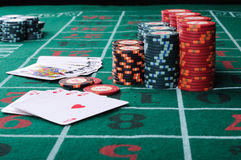 Place a poker player Royalty Free Stock Photography