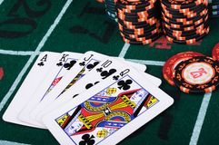Place a poker player Royalty Free Stock Images