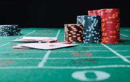 Place a poker player Royalty Free Stock Photo