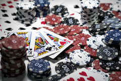 The place of a poker player Royalty Free Stock Images