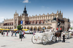 Place principale, Cracovie Photo stock